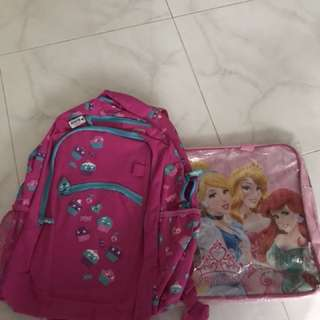 Smiggle Backpack with tag and tuition bag