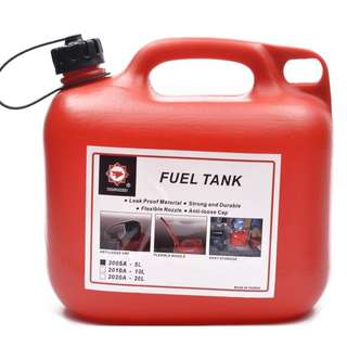 Plastic Fuel Tank 2005A - 5 Liter Capacity (Red)