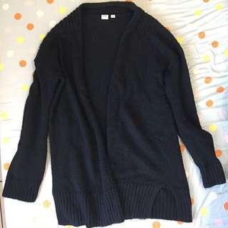 免運 GAP長版針織罩衫 s號黑色#舊愛換新歡