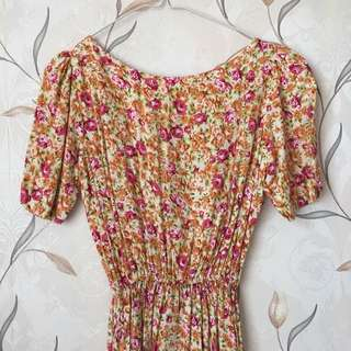 Flowery Free Size Dress