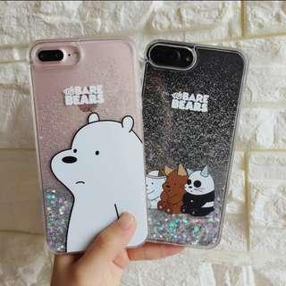 Po we bare bears liquid glitter case