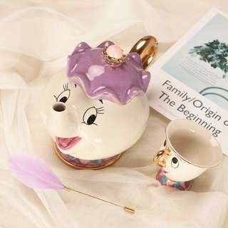 Disney beauty and the beast 美女與野獸 茶壺茶杯套裝 tea cup teapot 全場最平