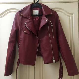 Authentic Pull & Bear Leather Jacket
