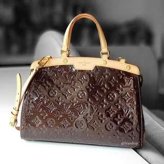 Authentic Louis Vuitton Vernis Amarante Brea LV