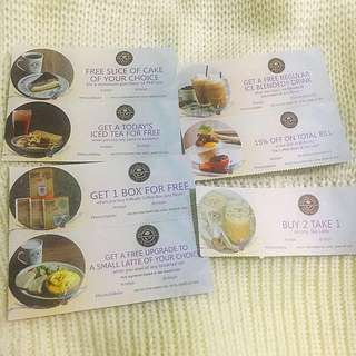 💕7 CBTL Discount coupons for only 150pesos