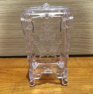 Gothic Clear Cotton Pad Holder