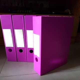 5 Special Plastic File Box (Purple Magenta)