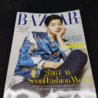 Song Joong Ki in Bazaar Magazine