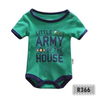 Holabebe: R366-Little Army Of The House Holabebe Romper