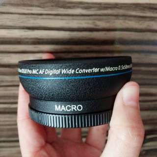 Camera Lens 58MM 0.45x Wide Angle Macro Lens for Canon EOS 350D/ 400D/ 450D/ 500D/ 1000D/ 550D/ 600D/ 1100D
