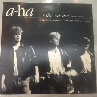 "a-ha ‎– Take On Me (Extended Version), 12"" Single Vinyl, Warner Bros. Records ‎– W9006T, 1985, UK"