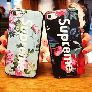 Supreme Floral soft case for iphone 5 to 8+