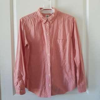 Uniqlo Oxford shirt in peach