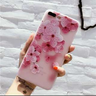 Casing Flower Pattern Case For iPhone