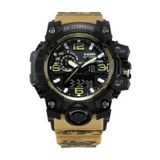 Jam tangan ORIGINAL Dziner Dual Time