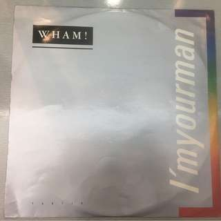 "Wham! ‎– I'm Your Man, 12"" Single Vinyl, Epic ‎– TA 6716, 1985, UK"