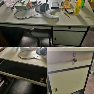 Desk with Cabinets