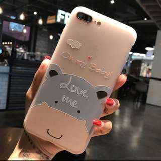 Casing Soft Silicone Floral Protect Soft Full Cover For iPhone