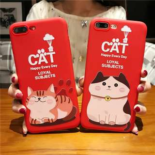 Red Neko softcase for iphone 5 to x