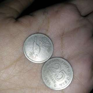 Koin 100 dan 25 tahun 70an