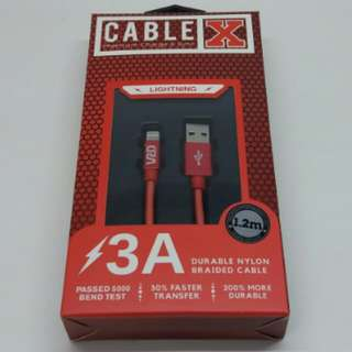 iPhone charge cable 極速手機叉電線