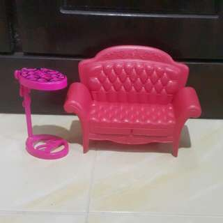 Barbie Sofa And Side Table