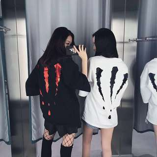 [Fast PO] Korean Ulzzang Harajuku BF Loose Oversize Claws Top Tee Women & Men