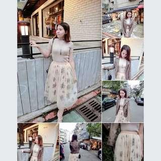 韓貨mini shop 花朵紗裙
