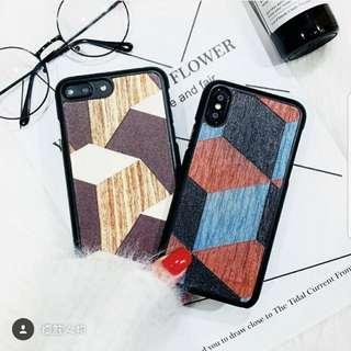*訂貨款*木紋拼色手機殼