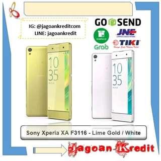 Sony Xperia XA F3116 Lime Gold - White - Cash Dan Kredit Cepat