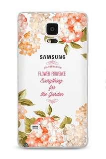 Samsung Galaxy Note 4  3D立體浮雕 閃耀水鉆 全包邊軟手機套  *特價$85 (只餘一件)