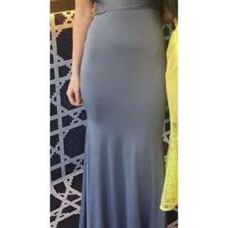 Zachary Silver gown small
