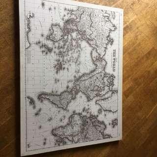 WALL DECORATION - WORLD MAP