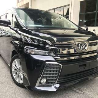 Toyota Vellfire ZA 2.5L Japan original alpine set, UNREG 2015