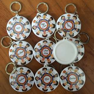 Personalise Keychain Badges without mirror