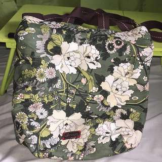 Canada Bought Sakroots Green Floral Sling Tote Bag
