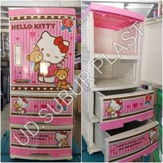 Lemari plastik lemari pakaian lemari napolly hello kitty