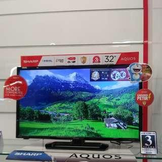 """LED Analog TV Sharp 32"""" Bisa Dicicil Bunga 0%"""