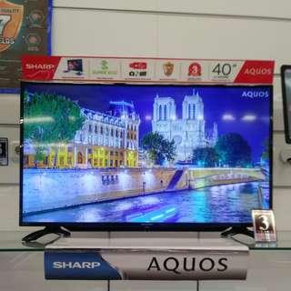 """LED Tv Sharp 40"""" Bisa Dicicil Bunga 0%"""