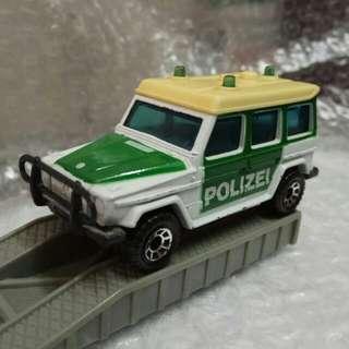 罕有 Matchbox 火柴盒 1984 Mercedes Benz 280GE 平治警車