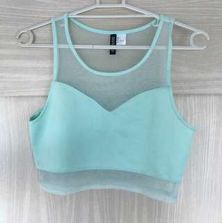 H&M Mint Green Cropped Top