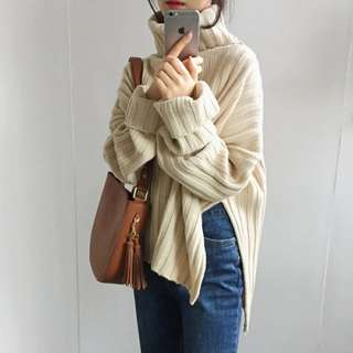 高領套頭 毛衣 女裝 兩色