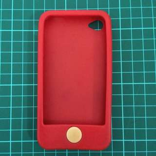 Full Cover iPhone 4/4s Silicon Case (Red)