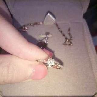 真 鑽石 戒指 18k金