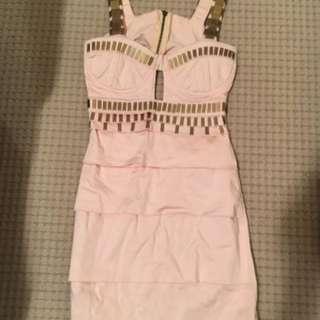 IIKOY designer pink dress size 8.