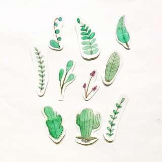 Handmade Plant Stickers