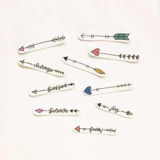 Handmade Arrow Stickers