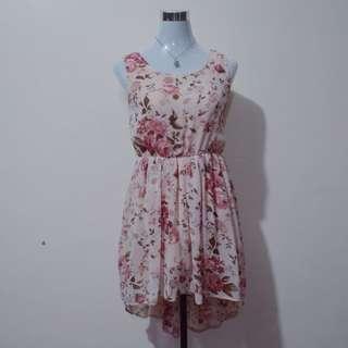 Pink Floral Longback Dress