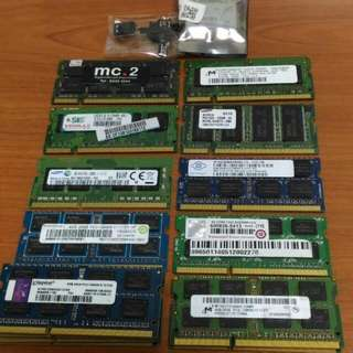 WTS Laptop Desktop Ram & Wifi Module Ddr Ddr2 Ddr3 Sodimm Dimm Samsung Note 2 N7100 N7105 Earphone Replacement Hynix Sis Micron Pc2 Pc3 Ramaxel Kingston Transcend Promos Nanya Sharetronic Crucial