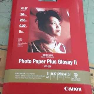 CANON 4X6超光亮相片紙20張/PP-201